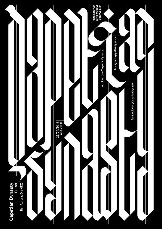 Flyer #lettering #dynasty #qapetian #flyer #muzzi #francesco