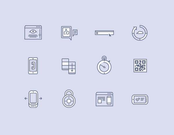 Vector line icon series full #icon