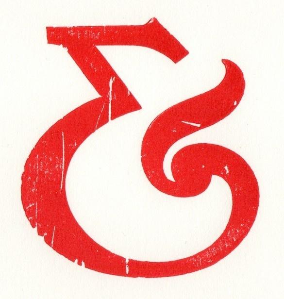 Woodcut Poynder Ampersand #ampersand