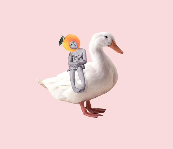 The rabbit ears von Dilok Lak   iGNANT.de #lak #duck #illustration #dilok #collage