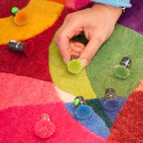 Deconstruction: Sonya Winners Bubble Outline Rug #color #carpet #mix