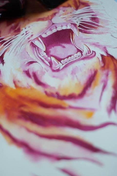 Watercolor tiger by Mathiole. #wild #tusk #tiger #animal #watercolor