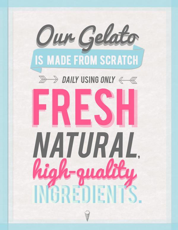 Gelato Design #branding #shop #print #design #graphic #decor #cream #gelato #poster #cute #ice #typography