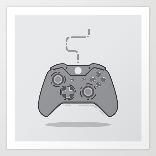 xBox controller by Miguel Angélus Batista #xbox #illustration #games #gaming #gamer #flatdesign