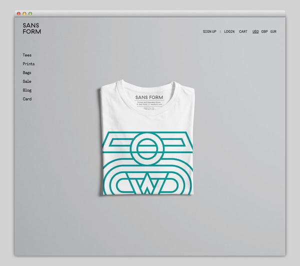 Sans Form #website #layout #design #web