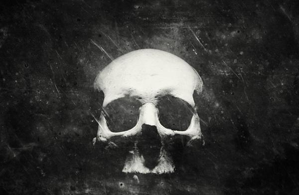 Once Were Warriors on the Behance Network #skull #white #black