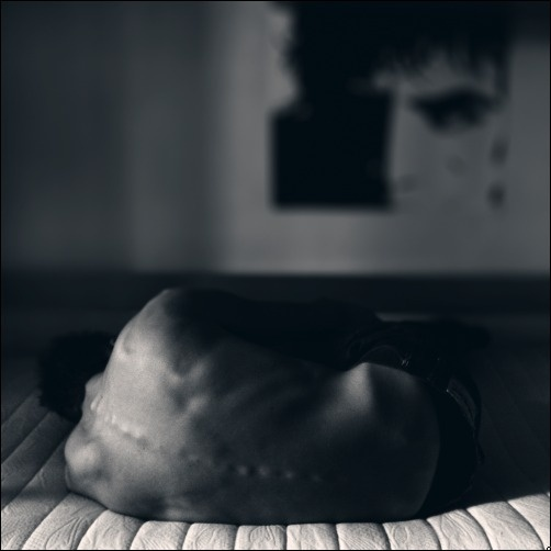 .close to me.. by ~introvertevent #andrenzo #spinal #sleep #introvertevent #back #bed #skinny #man
