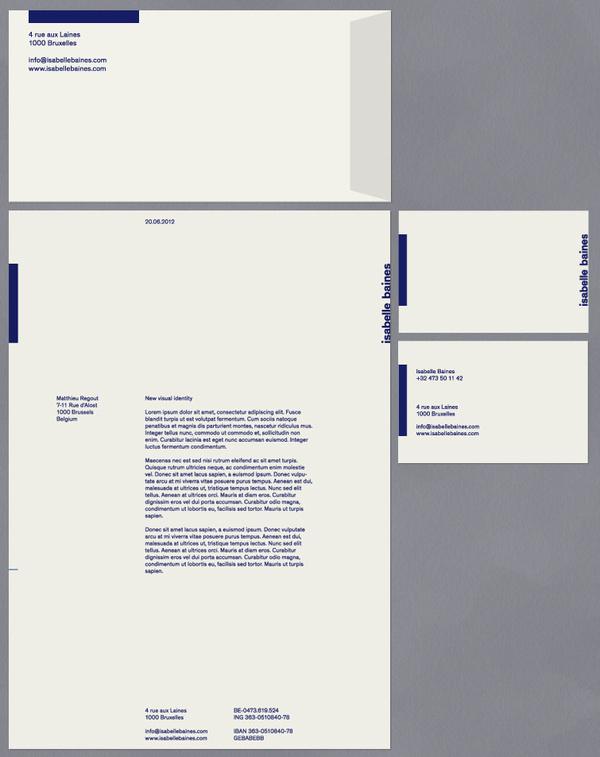 Modern Practice - Isabelle Baines - Identity #modern #print #identity #blue #layout