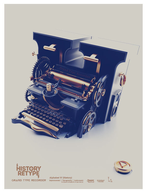 History Retype (Grand Type Recorder) #inspiration #design #graphic #professional #quality