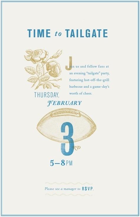tailgating poster - Danielle Kroll #invitation poster