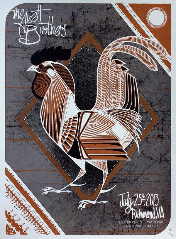 Avett Brothers Show Poster / Richmond, VA