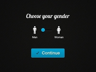 Dribbble - Select Gender Screen by Jan Losert #man #woman