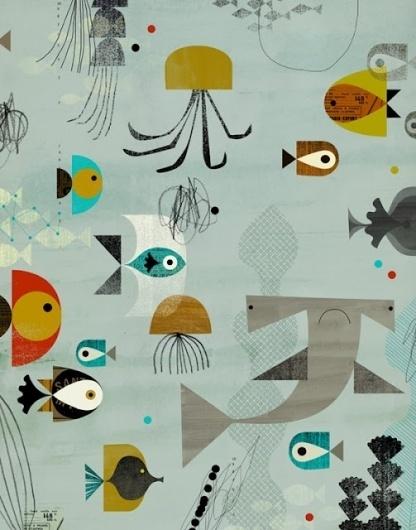 EYE-LIKEY #fish #shark #illustration #sea #creatures #underwater