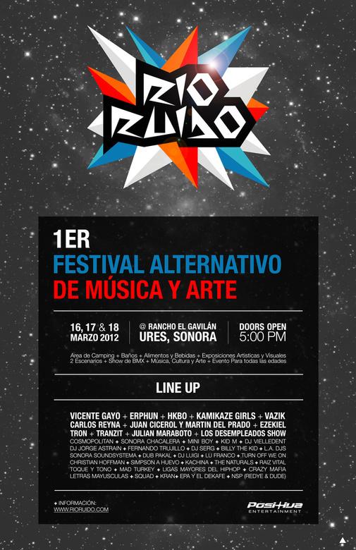 Rio Ruido Poster #rio #flyer #design #ruido #poster #noise