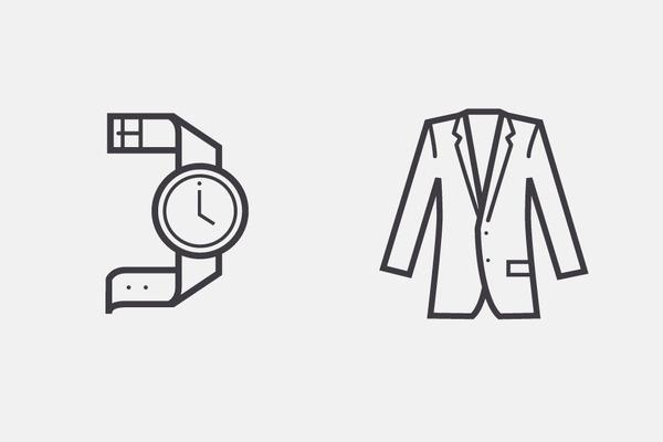 Nordstrom Rack Iconography, by Zeus Jones #inspiration #creative #clothing #icon #design #graphic