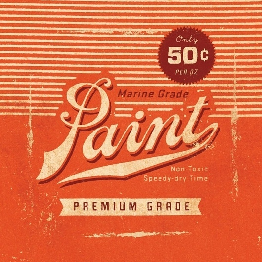 Lost Type Co-op | Blog #label #paint #dustin #wallace #typography
