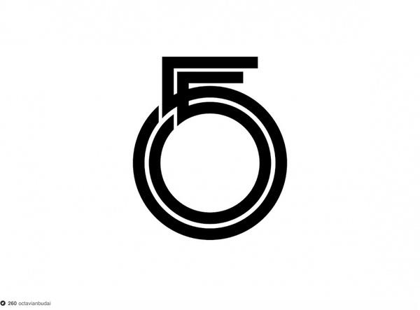 55 #logo #logotype #fiftyfive #typography