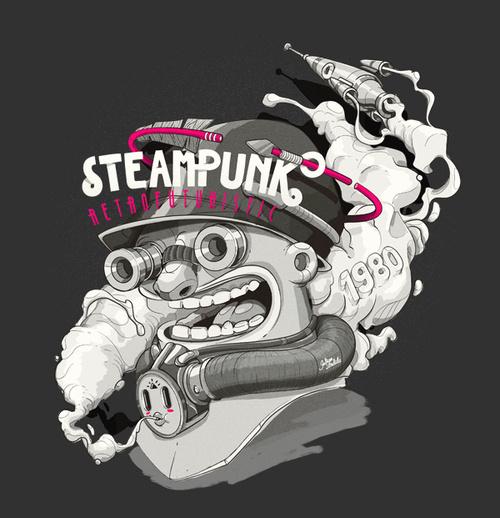 Steampunk by Julian Ardila #illustration #design #graphic #art