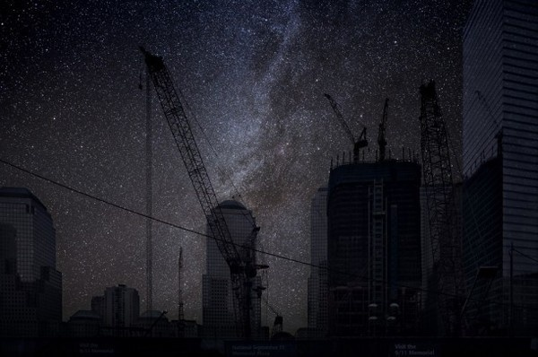 Ground Zero photo of night landscape of Thierry Cohen #photos #photographic #photograph #exhibition #photography #landscapes