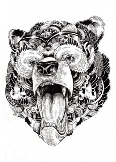 Tumblr #bear #tattoo #ilustracion