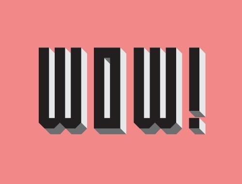 WOW #type design inspiration