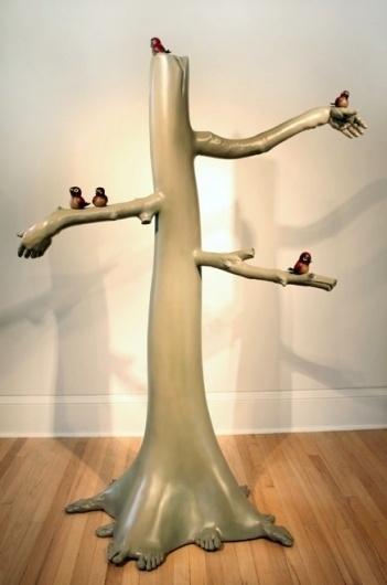 David Isenhour #hands #tree #art #bird