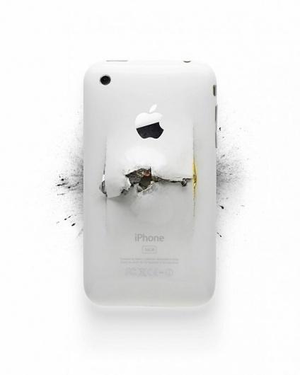 Apple Destroyed Products | Fubiz™ #destroyed #apple
