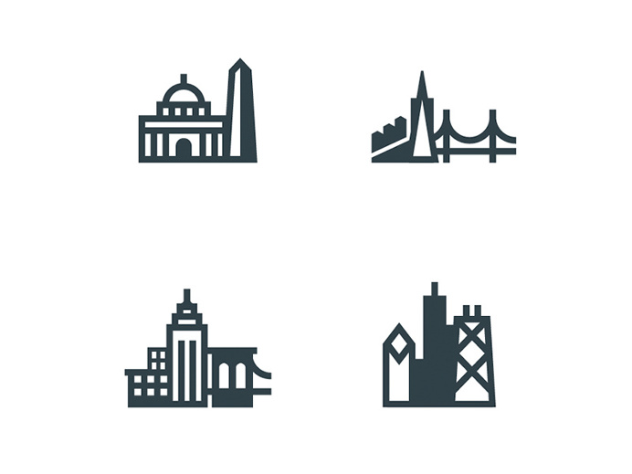 City Icons by Brian Hurst #icon #icondesign #city #building #picto #symbol