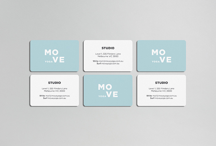 MOVE Yoga by Thomas Williams & Co. #business card #graphic design #print