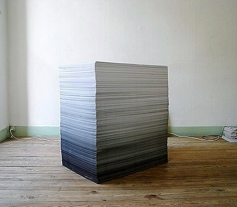 Fading stack of paper #fading #paper
