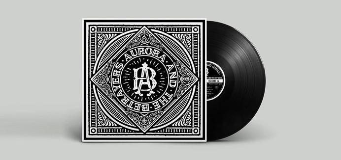 logo, hipster, white, black, bold, record