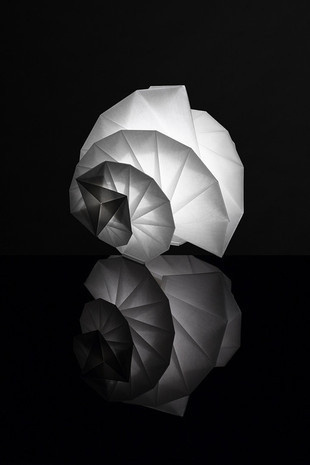 """Award Winning """"IN EI ISSEY MIYAKE"""" Lamps Made from Ecological Paper by Teijin in Stores #fashion #miyake #issey"""