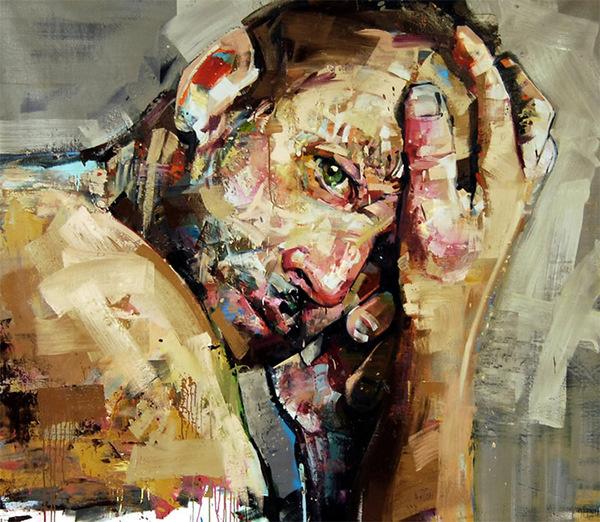 CJWHO ™ (Portraits (2013) by Andrew Salgado ANDREW...) #amazing #salgado #illustration #fav #painting #art #andrew