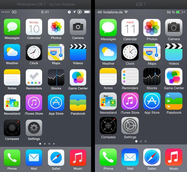 Redesign_ios7_comparison_v3 #apps #iphone #ios7