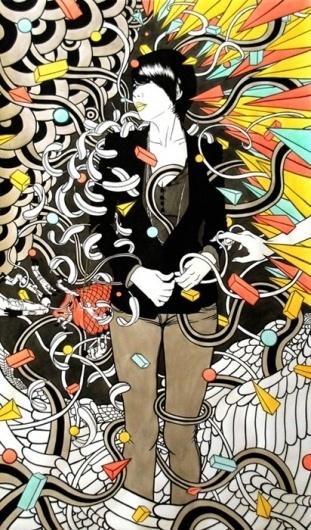 First-Stop » Hazzi #vector #penink #dongyun #lee #illustration #watercolor