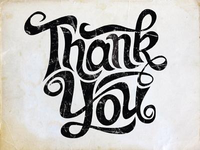 Thankyou #type #drawn #hand #typography