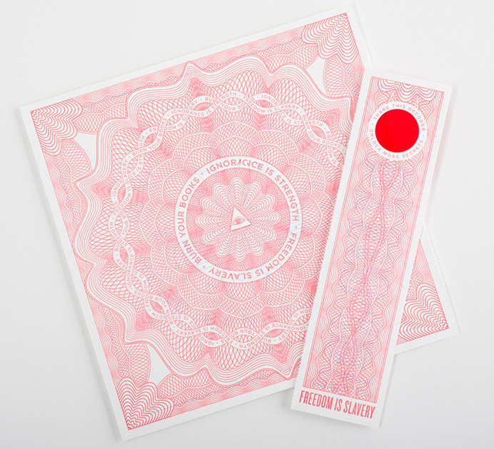 Banned Books 2015 Poster #banned #pattern
