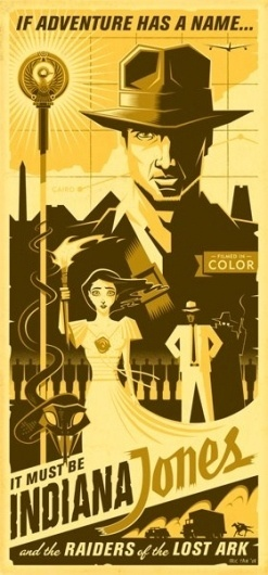 The Art of Eric Tan « These Old Colors™ #jones #indiana #tan #design #eric #poster