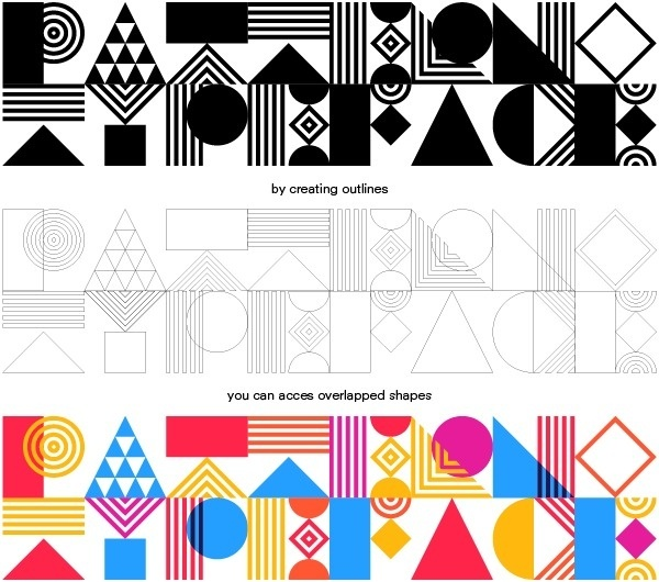 Pattern Typeface (free) on Behance #type #color #geometric #abstractm