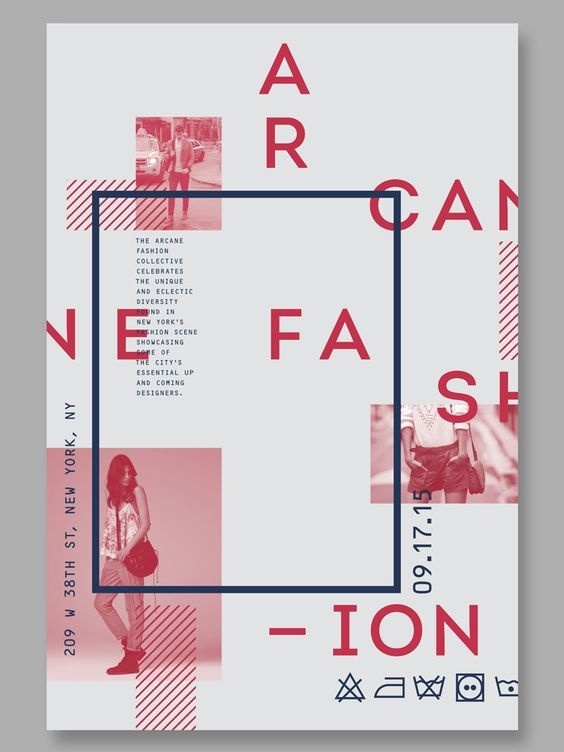 Arcane Fashion Collective Poster - Type with Image #type #typography #typedesign #abstract #swiss #poster #graphis #image