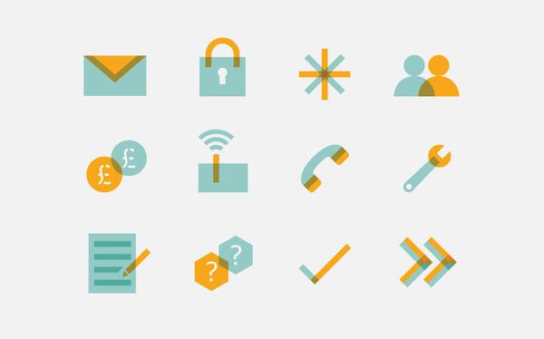 John Lewis broadband by NB Studio #illustration #multiply #icons