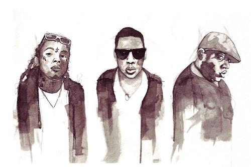 onebighappy illustrator #hiphop #illustration #ink #rappers