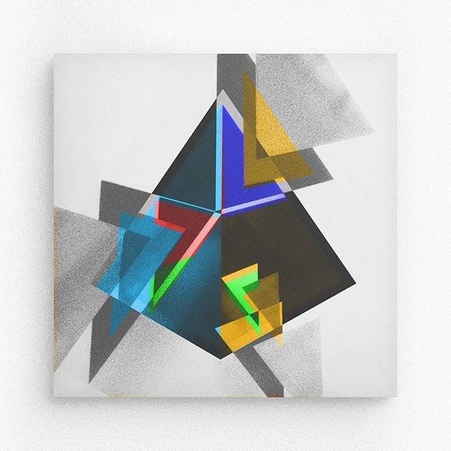 Geometric form / Pyramid #geometry #square #random #barcelona #davidrico #geometryart #illustration