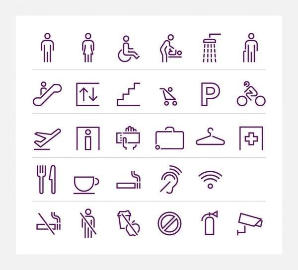 Virgin Atlantic – bespoke pictograms #pictogram #iconography #icon #sign #picto #symbol