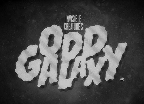 Invisible Creature Speaks #creature #movie #white #galaxy #design #graphic #fi #sci #black #b #and #invisible #typography
