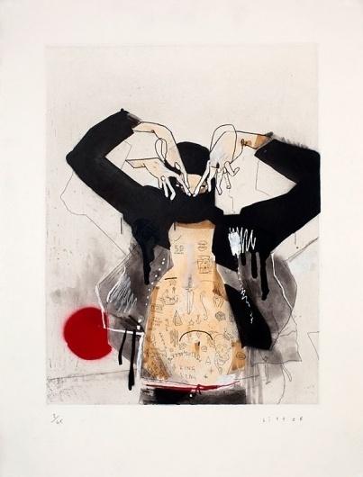 http://www.mondriansladder.com/ #ink #red #print #black #human #illustration #art #hands