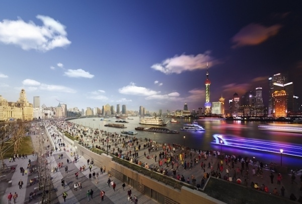 Day to Night Continued by Stephen Wilkes   Who Designed It? #shanghai #city #night #scenery #wilkes #day #stephen #to