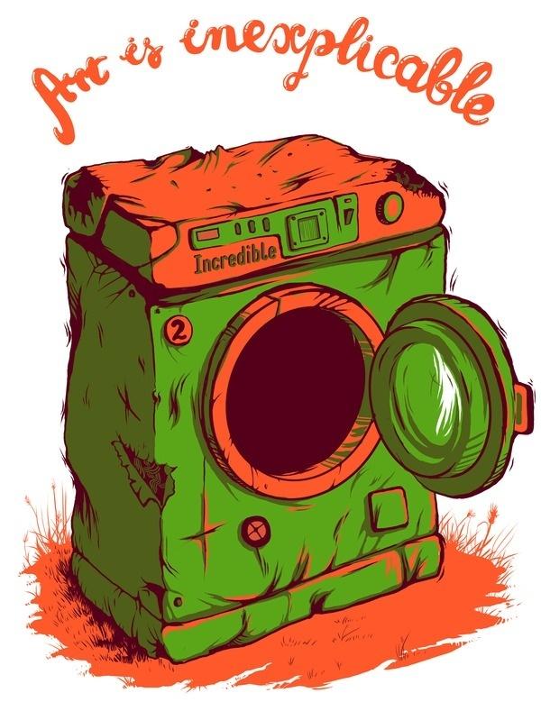 illustration on the Behance Network #machine #print #shirt #illustration #strange #tee #art #weird