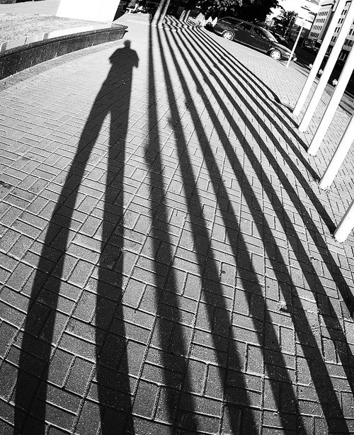 i am by ivan uralsky :: lensblr.tumblr.com #white #perspective #black #legs #photography #and #long #shadow