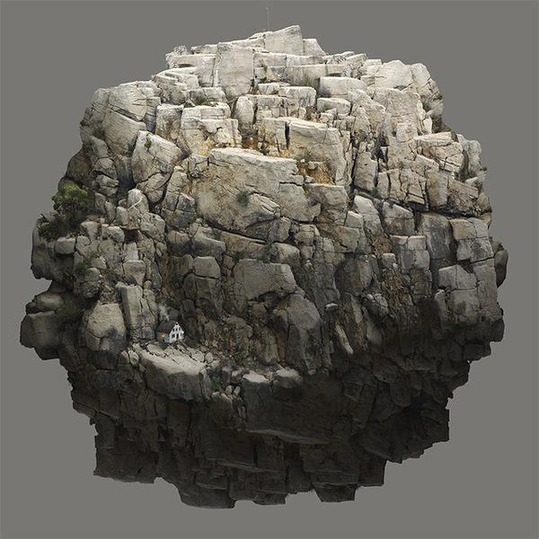 Surreal Digital Illustrations by Tebe Interesno #photo #rock #manipulation #sphere #circle #spherical